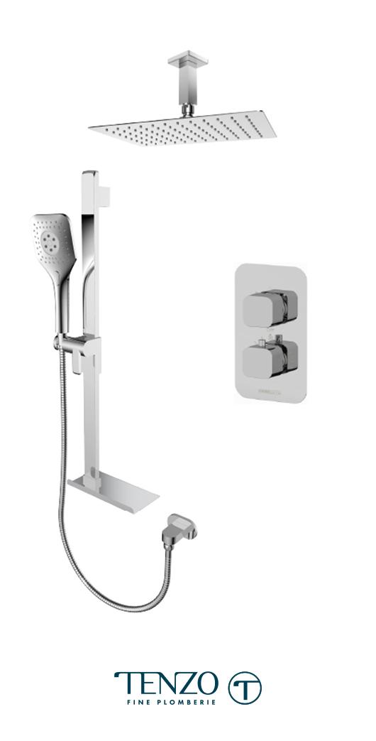 QUT32-21330-CR - Shower kit, 2 functions