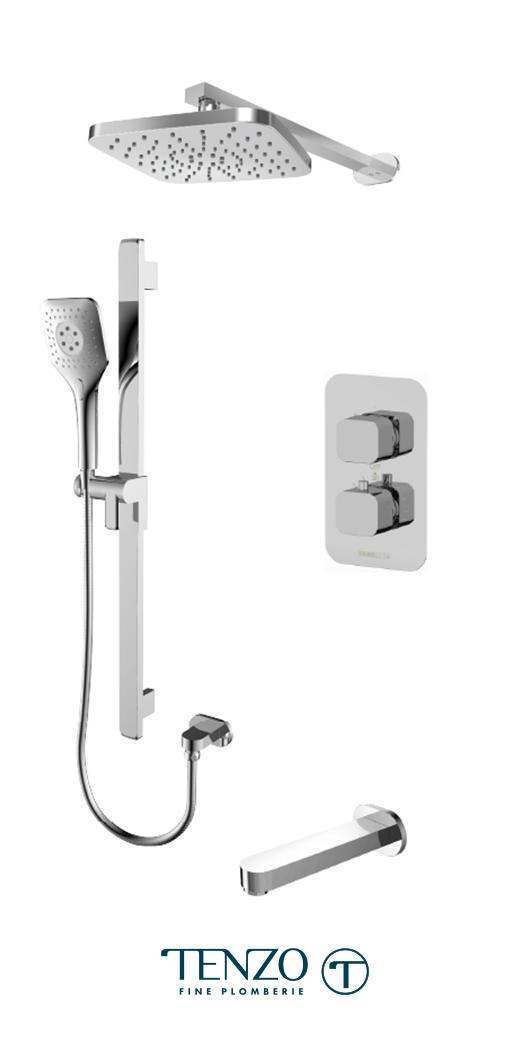 QUT33-501145-CR - Shower kit, 3 functions