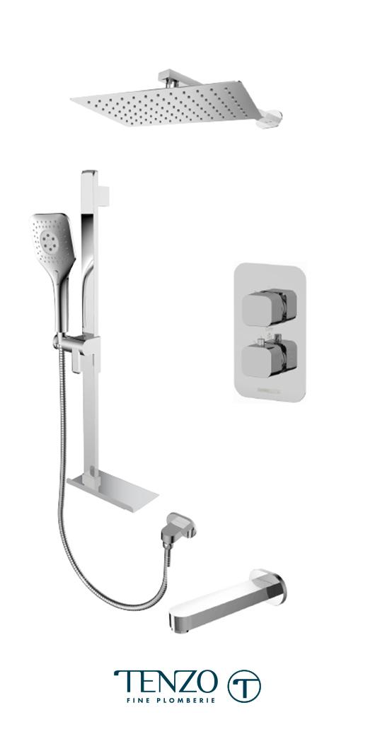 QUT33-503115-CR - Shower kit, 3 functions