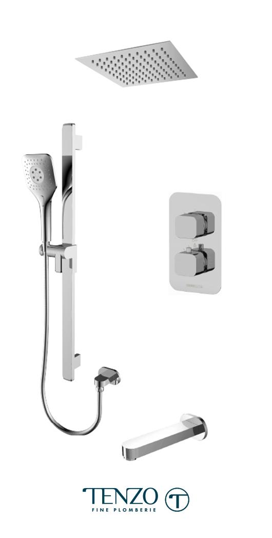 QUT33-511635-CR - Shower kit, 3 functions