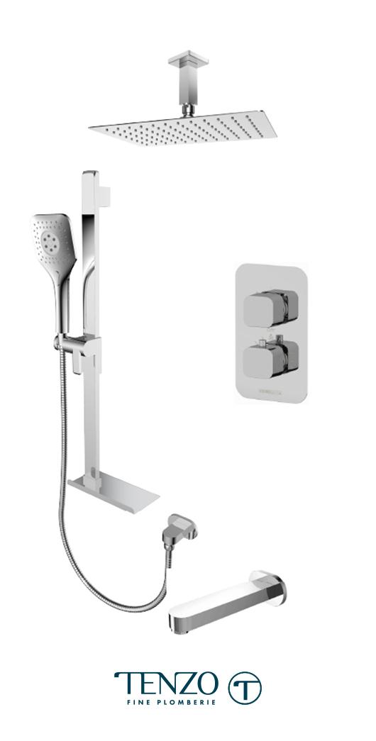 QUT33-513315-CR - Shower kit, 3 functions
