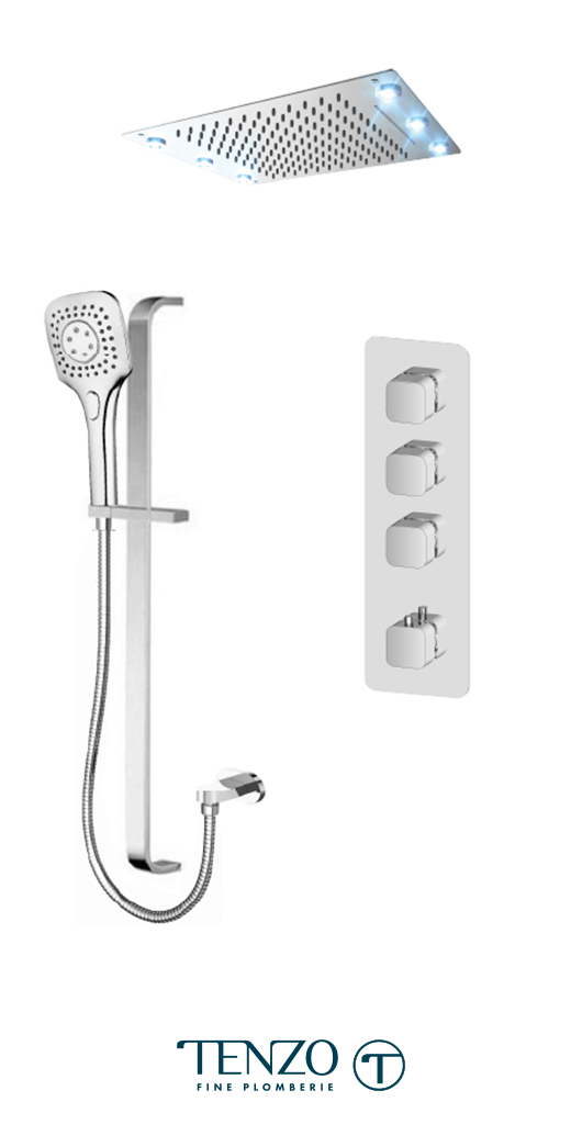 QUT43-55244-CR - Shower kit, 3 functions
