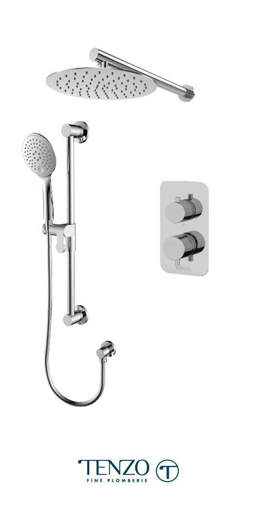 RUPB32-20111-CR - Ensemble de douche T-Box, 2 fonctions, Rundo