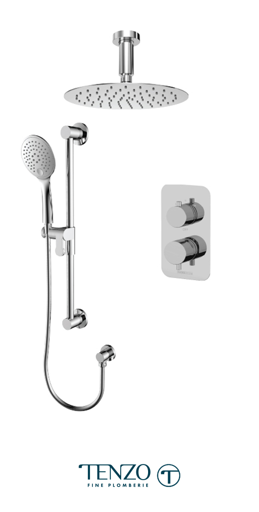 RUPB32-21131-CR - Ensemble de douche T-Box, 2 fonctions, Rundo