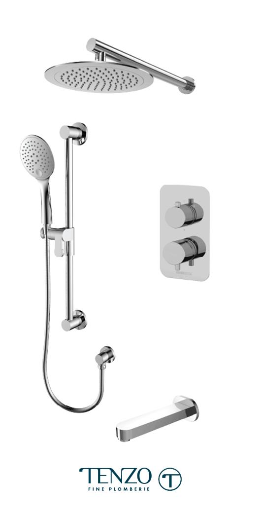 RUPB33-501145-CR - Shower kit, 3 functions