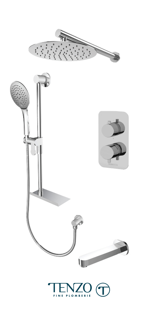 RUPB33-503115-CR - Ensemble de douche T-Box, 3 fonctions, Rundo