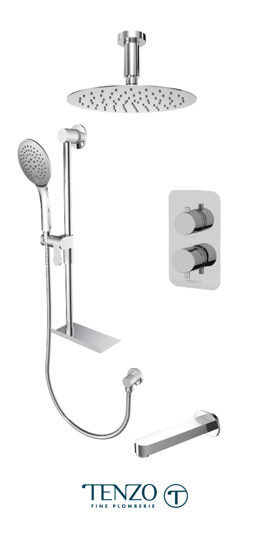 RUPB33-513315-CR - Ensemble de douche T-Box, 3 fonctions, Rundo
