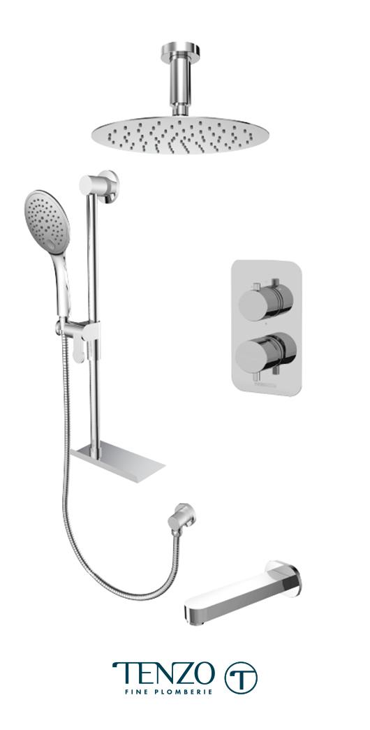 RUPB33-513315-CR - Shower kit, 3 functions