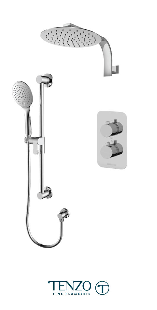 RUT32-20119-CR - Ensemble de douche T-Box, 2 fonctions, Rundo