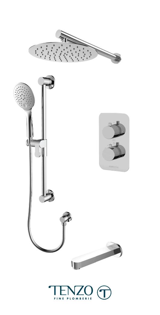 RUT33-501115-CR - Shower kit, 3 functions
