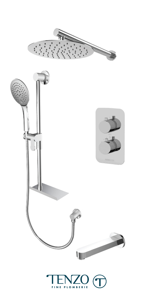 RUT33-503115-CR - Shower kit, 3 functions