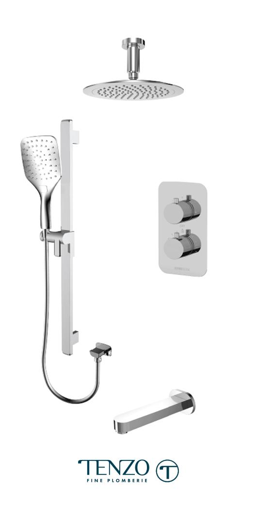 RUT33-511345-CR - Shower kit, 3 functions