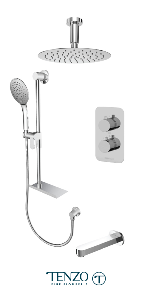 RUT33-513315-CR - Shower kit, 3 functions