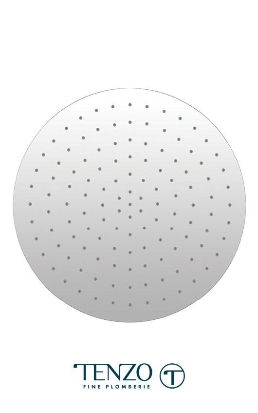 CSH-16-R-CR - Tête pluie encastrée ronde 40x40cm [16po] chrome