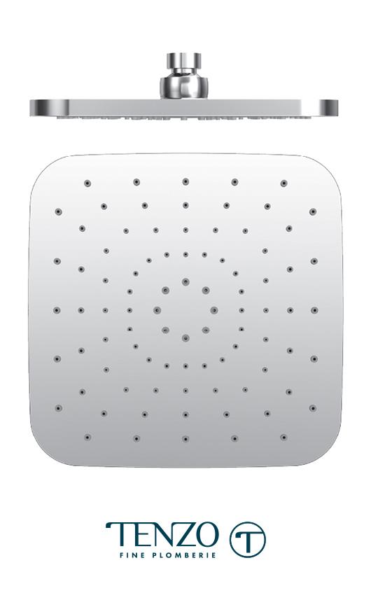 PVTS-08-Q - Tête de douche Quantum 20x20cm [8po] PVC chrome