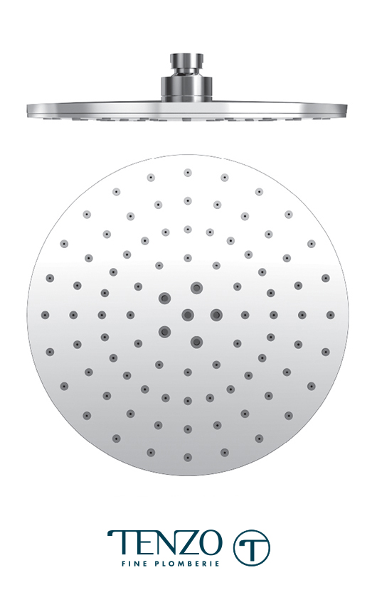 PVTS-09-R2-CR - Shower head round 23cm [9in] PVC chrome