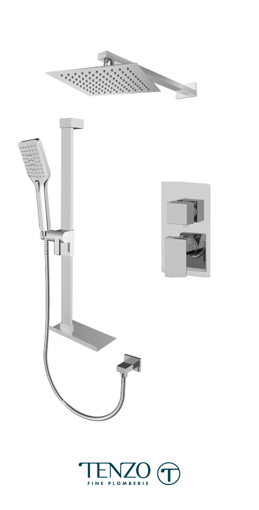 SLPB32-20311-CR - Ensemble de douche T-Box, 2 fonctions, Slik