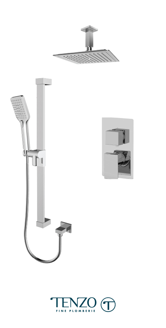 SLPB32-21134-CR - Ensemble de douche T-Box, 2 fonctions, Slik