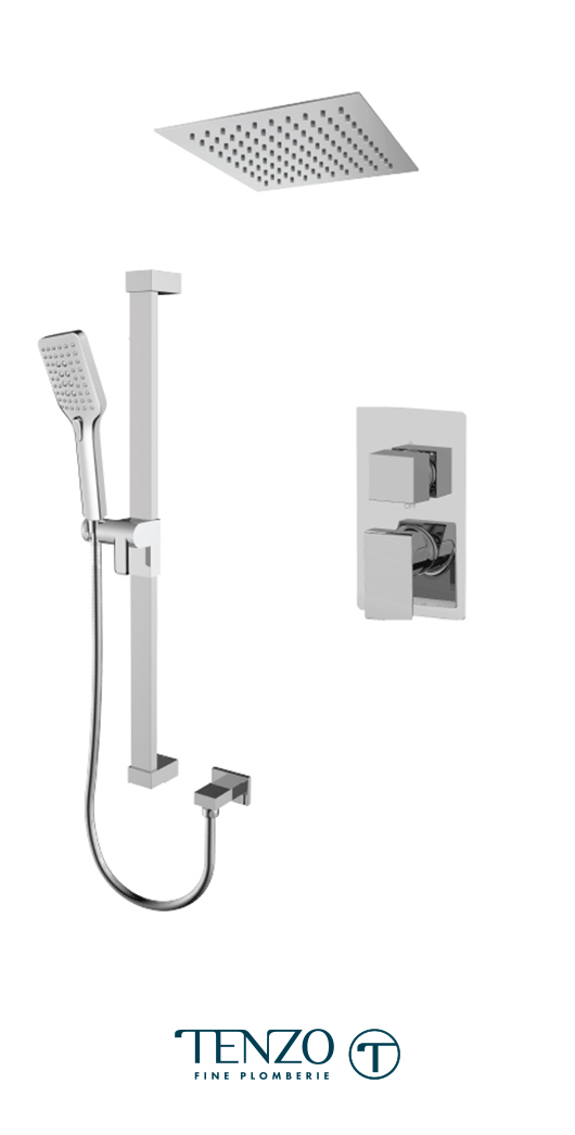 SLPB32-21161-CR - Ensemble de douche T-Box, 2 fonctions, Slik