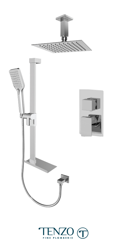 SLPB32-21331-CR - Ensemble de douche T-Box, 2 fonctions, Slik