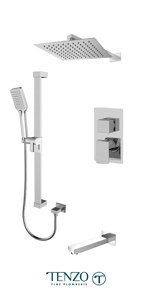 SLPB33-501115-CR - Shower kit, 3 functions