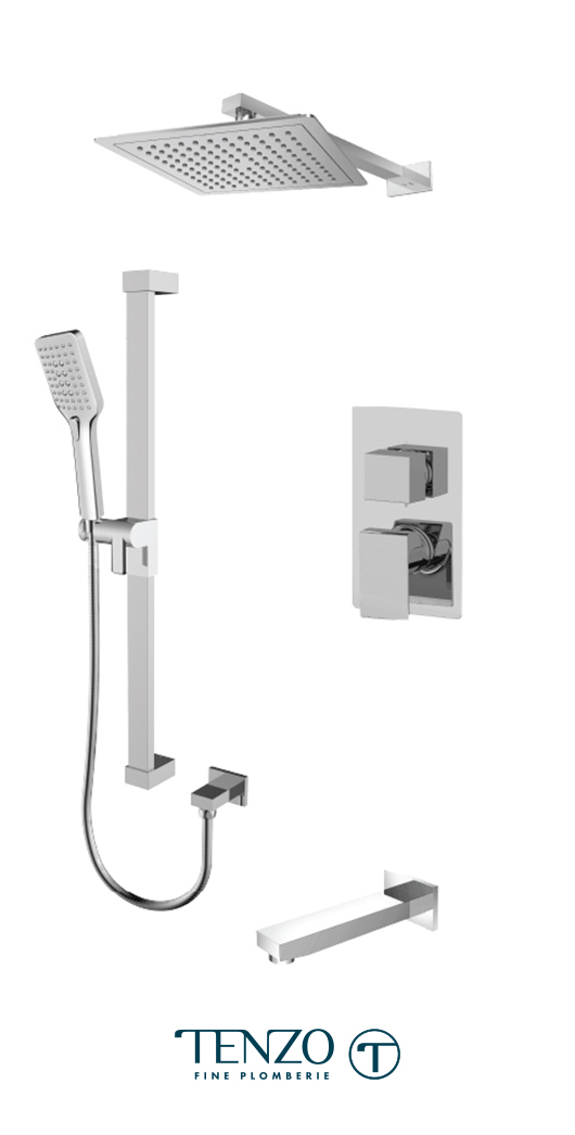 SLPB33-501145-CR - Shower kit, 3 functions