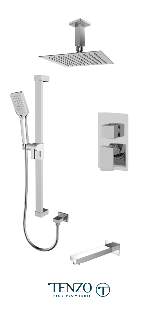 SLPB33-511315-CR - Ensemble de douche T-Box, 3 fonctions, Slik