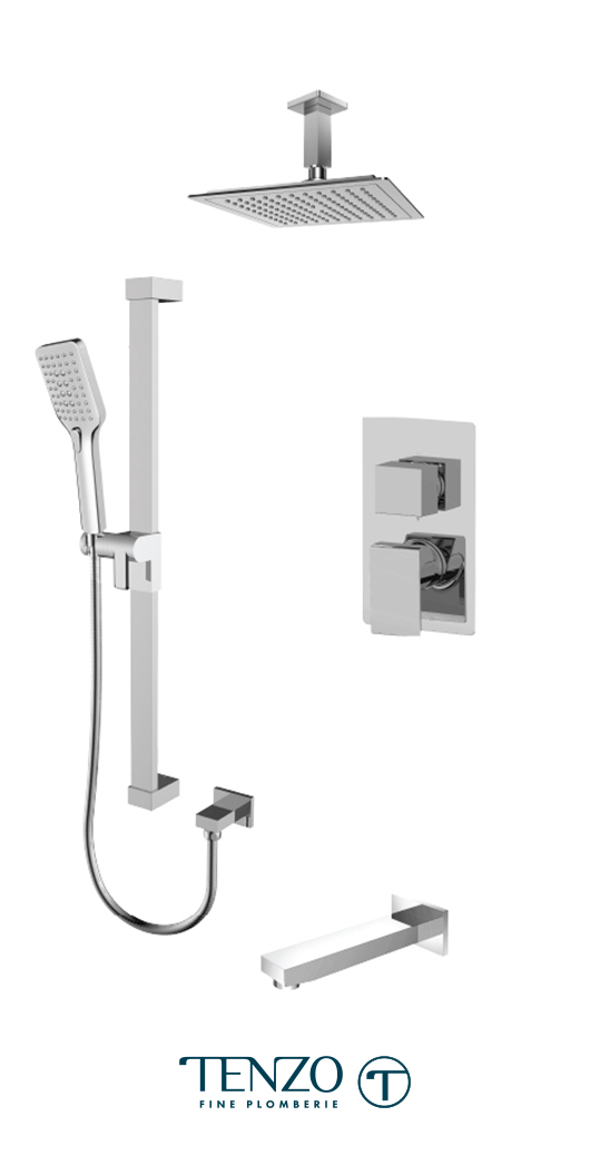 SLPB33-511345-CR - Shower kit, 3 functions