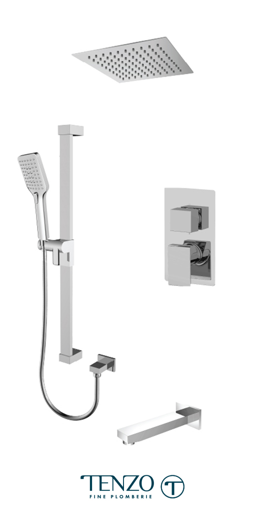 SLPB33-511615-CR - Shower kit, 3 functions