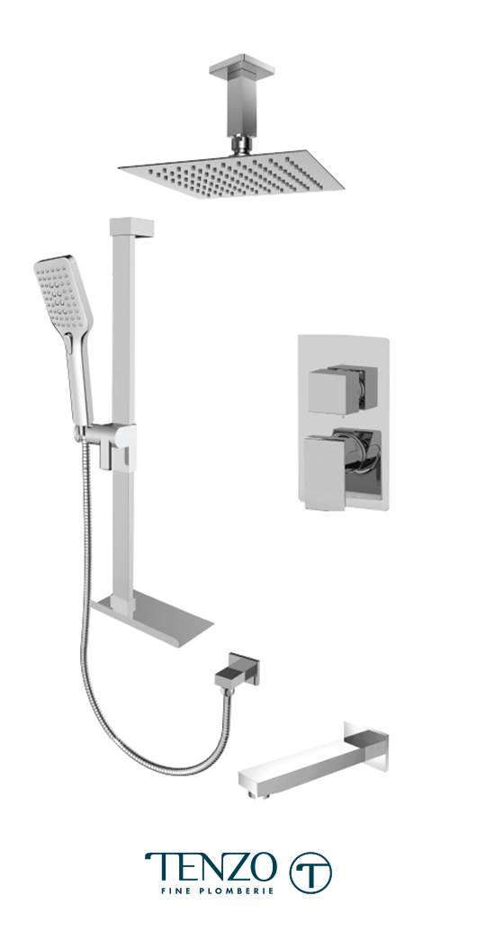 SLPB33-513315-CR - Ensemble de douche T-Box, 3 fonctions, Slik