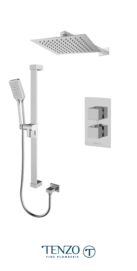 SLT32-20111-CR - Ensemble de douche T-Box, 2 fonctions, Slik