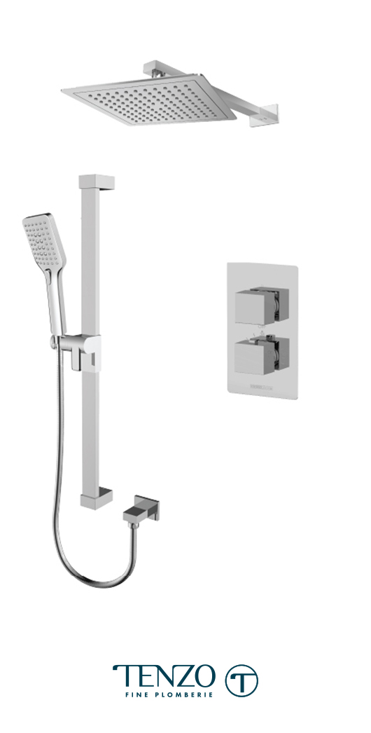 SLT32-20114-CR - Shower kit, 2 functions