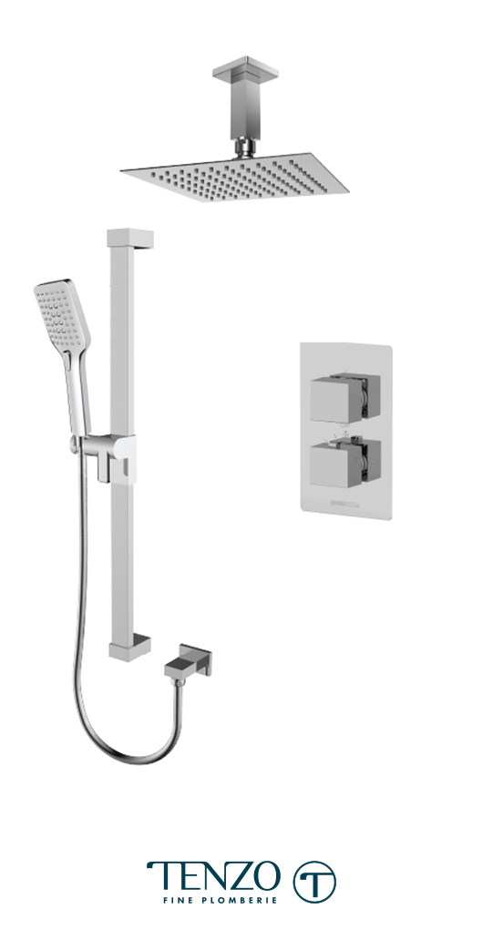 SLT32-21131-CR - Shower kit, 2 functions