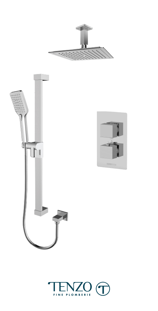 SLT32-21134-CR - Ensemble de douche T-Box, 2 fonctions, Slik