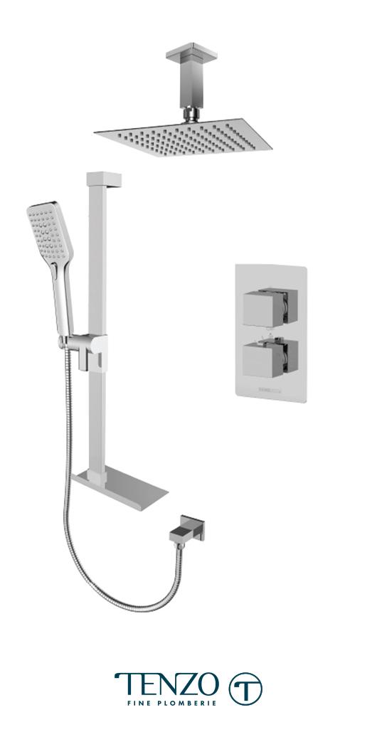 SLT32-21331-CR - Shower kit, 2 functions