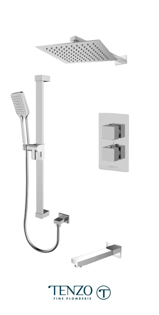 SLT33-501115-CR - Shower kit, 3 functions