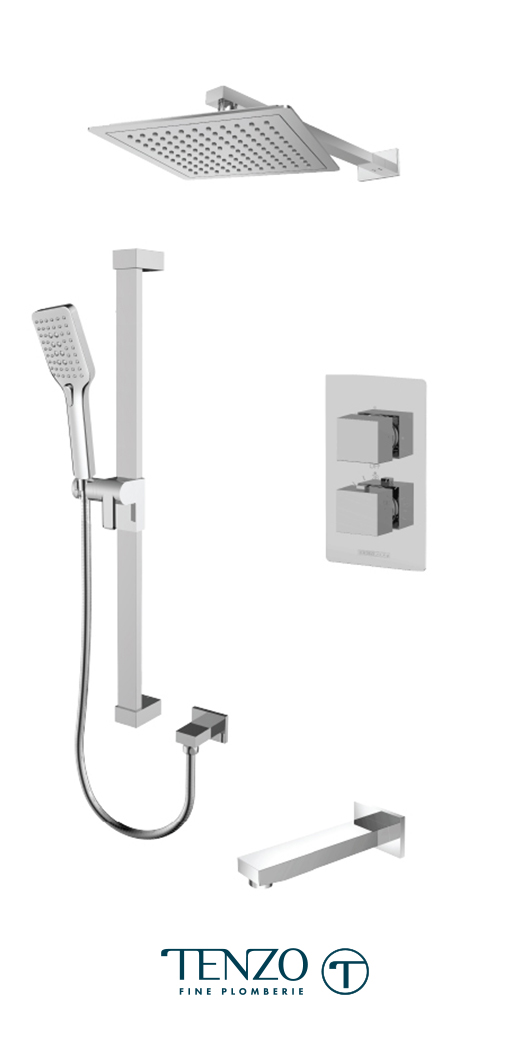 SLT33-501145-CR - Shower kit, 3 functions
