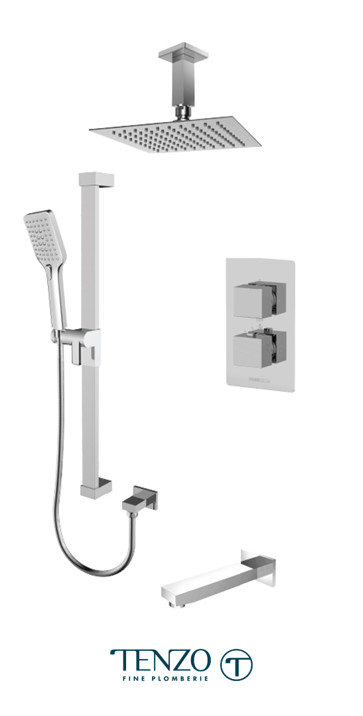 SLT33-511315-CR - Shower kit, 3 functions