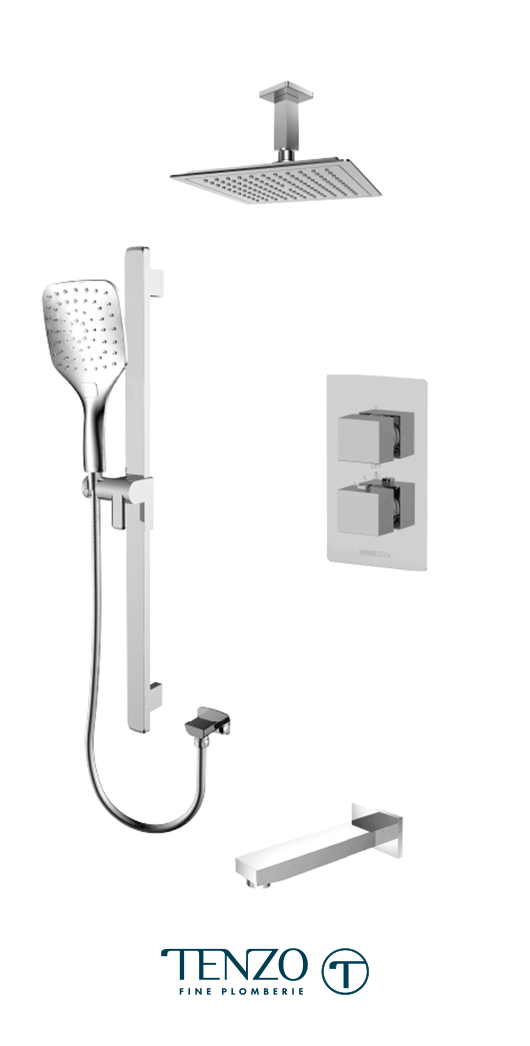 SLT33-511345-CR - Shower kit, 3 functions