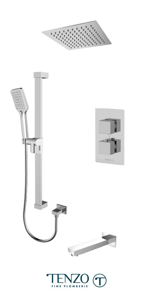SLT33-511615-CR - Shower kit, 3 functions