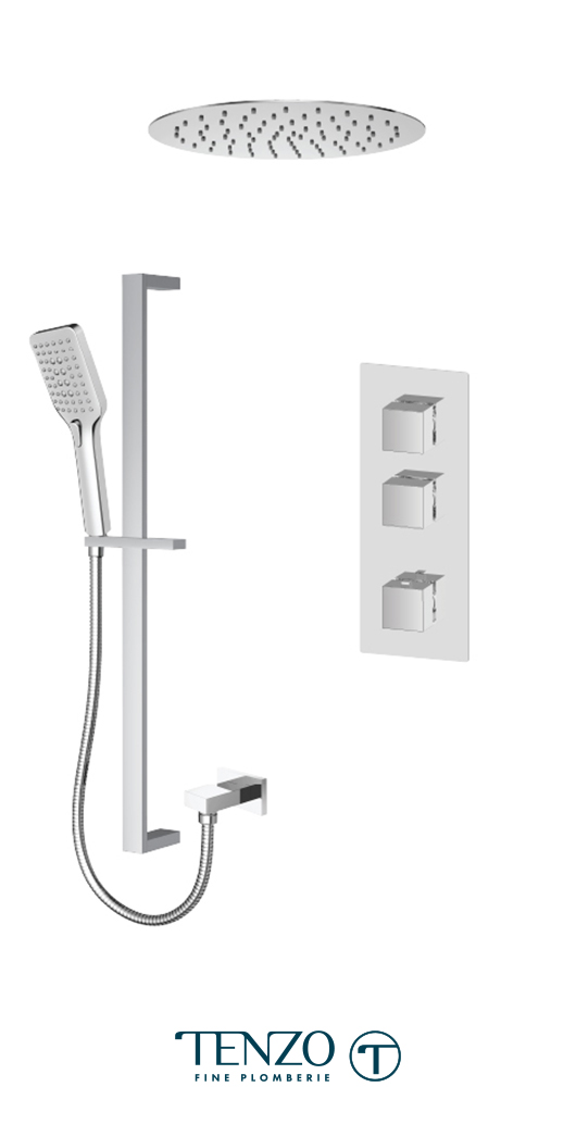 SLT42-21261-CR - Shower kit, 2 functions
