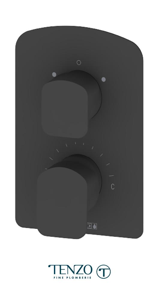 DEPB32-MB - Delano T-Box valve 2 functions pres bal matte black finish