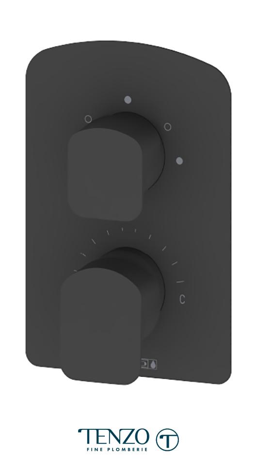 DEPB33-MB - Delano T-Box valve 3 functions pres bal matte black finish