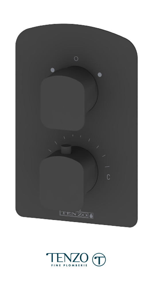 DET32-MB - Delano T-Box valve 2 functions thermo matte black finish
