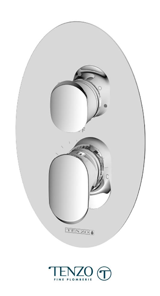 FLPB33-CR - Fluvia T-Box valve 3 functions pres bal chrome finish