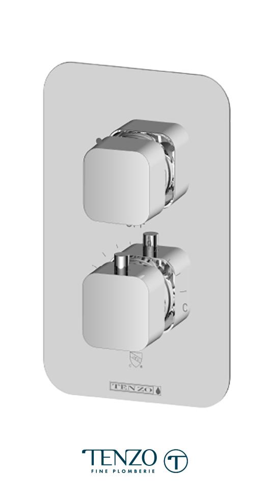 QUT32-CR - Quantum T-Box valve 2 functions thermo chrome finish