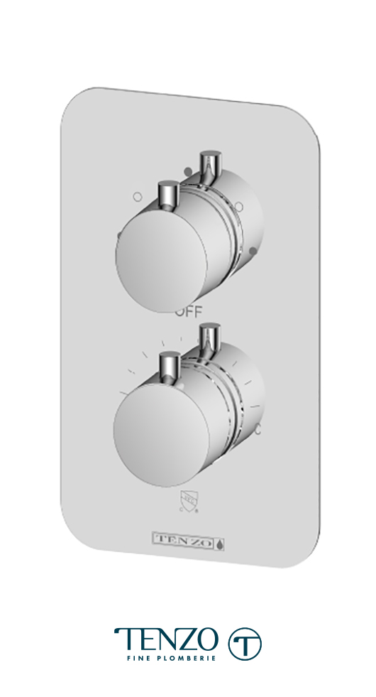 RUT33-CR - Rundo T-Box valve 3 functions thermo chrome finish