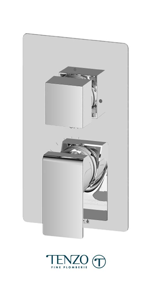 SLPB32-CR - Slik T-Box valve 2 functions pres bal chrome finish