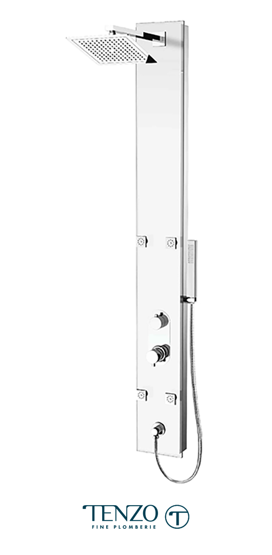 ETZG-53-WT - Shower columns - Evolo Tempered Glass, 3 functions