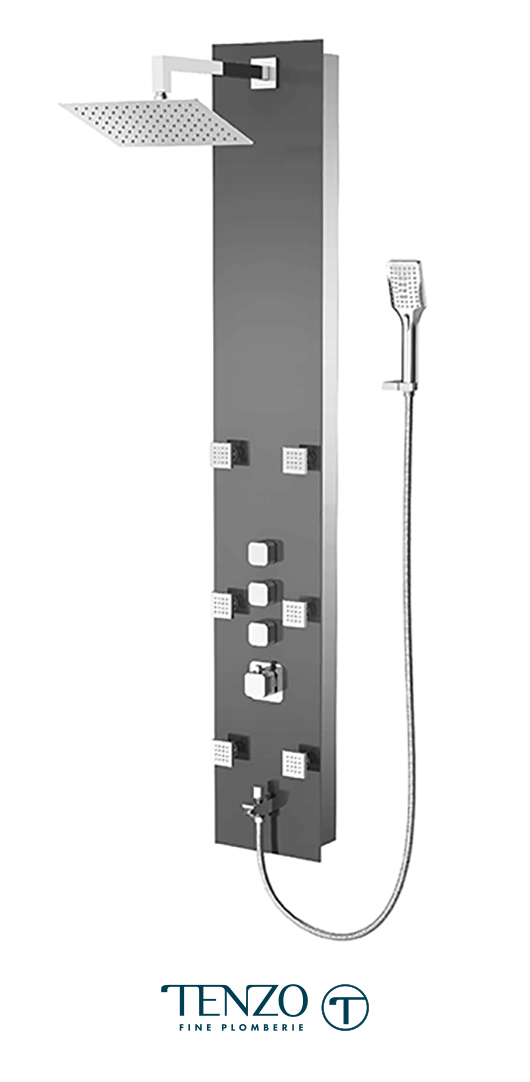 TZG1-XX-QU-S812 - Shower columns - Tempered Glass, 3 functions